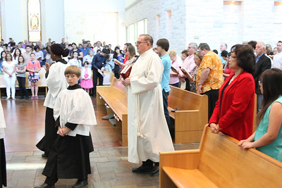 2014 First Communion, Sunday Mass