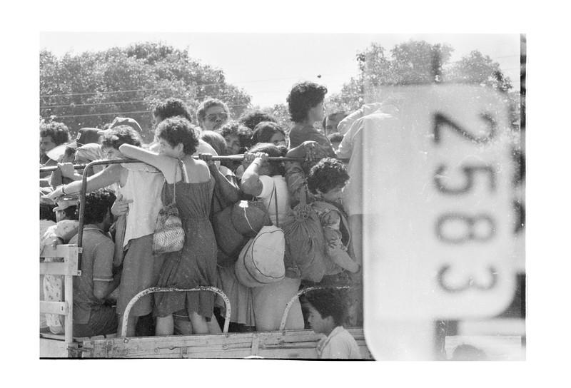 1987 Nicaraguaen route to Matagalpa people jammed in truck.jpg