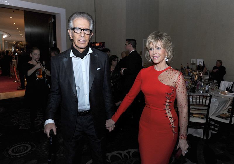 . Record Producer Richard Perry (L) and Jane Fonda attend the 72nd Annual Golden Globe Awards cocktail party at The Beverly Hilton Hotel on January 11, 2015 in Beverly Hills, California.  (Photo by Kevin Winter/Getty Images)