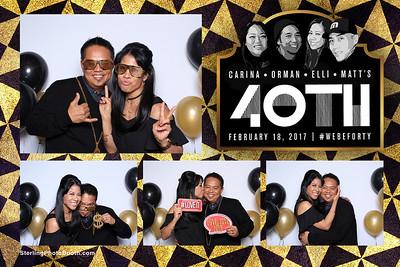 Carina, Orman, Elli & Matt's 40th