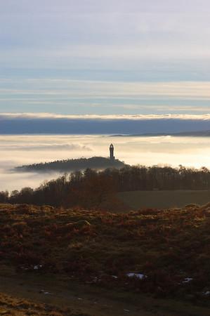 A walk above the mist - Dumyat - 30/12/2010