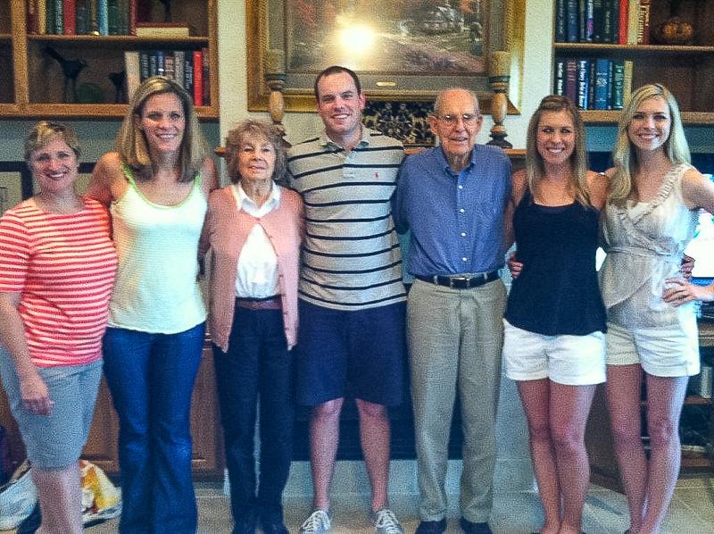 June 2013, grandkids with Grampa