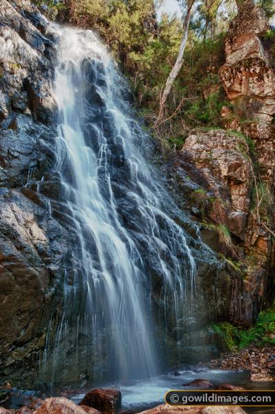 Bluff falls, Burrowa-Pine NP. Bluff creek, Cudgewa Bluff.