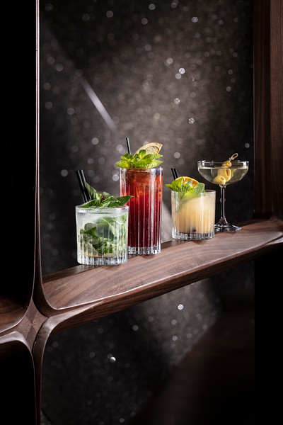 Asia drink set at Voyages by Alain Ducasse restaurant bar at Morpheus Macau.