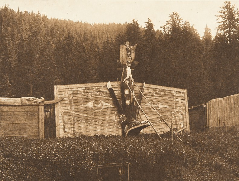 At Kwaustums Village [Kwakiutl] (The North American Indian, v. X. Norwood, MA: The Plimpton Press, 1915)