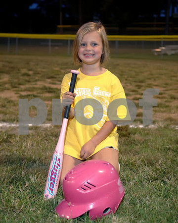 2010 Marshall County Fall T-Ball Girls 3-4 Yellow Team, September 23, 2010, Coaches Ronnie & Joey Harrison.