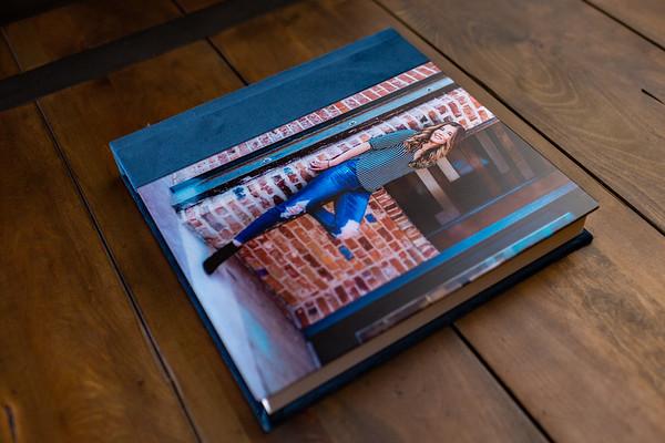 Velvet with Acrylic Image Album