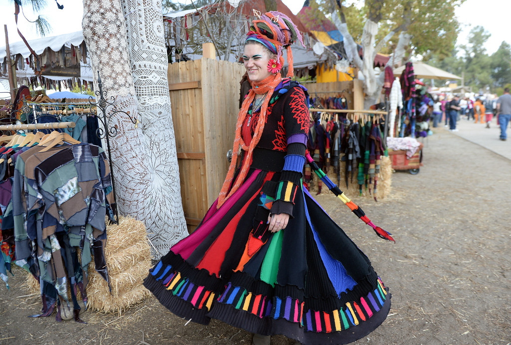 . Period clothes and hats for sale on opening day of the Renaissance Pleasure Faire at Santa Fe Dam Recreation Area in Irwindale, Calif., on Saturday, April 5, 2014. 