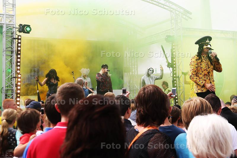 Optreden van de Kraaien op de open dag van ADO Den Haag - DEN HAAG 1 AUGUSTUS 2015 - FOTO NICO SCHOUTEN
