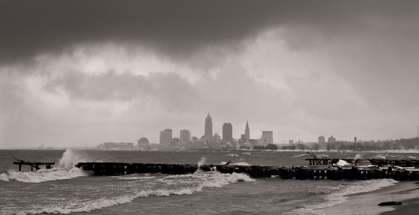 Cleveland Lake Erie Shore - Jan 2, 14 15 2012