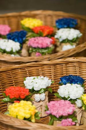 Poland, Cracow, flower market on Rynek Glowny