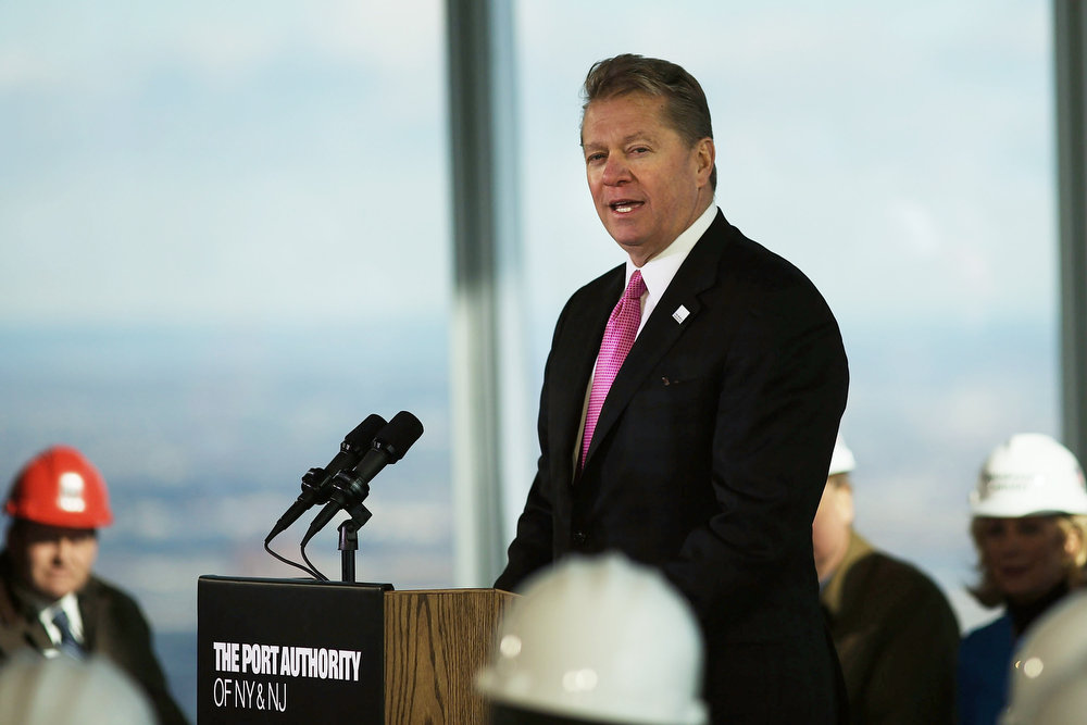 . David Checketts, Chairman and CEO of Legends, speaks during a media tour of the One World Observatory from the 100th floor of One World Trade Center at the Ground Zero site on April 2, 2013 in New York City. One World Observatory, which is situated more than 1,250 feet over lower Manhattan, will open to the public in 2015 and will include a pre-show theater, multiple spaces that allow for panoramas of the New York City region and numerous dining options. When completed, One World Trade Center will be the tallest building in the Western Hemisphere at 1776 feet.  (Photo by Spencer Platt/Getty Images)