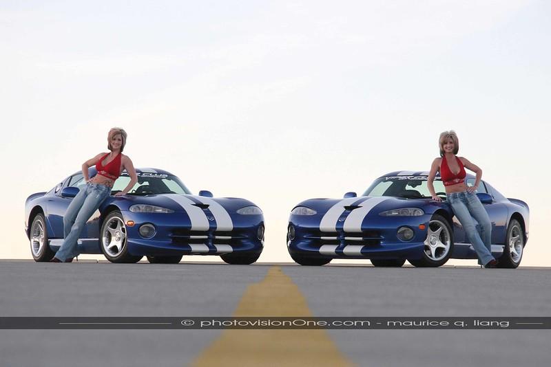 Twins.  1996 Viper GTS's.  Models:  Teresa