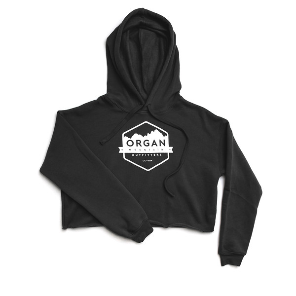 Organ Mountain Outfitters - Outdoor Apparel - Womens - Classic Cropped Fleece Hoodie - Black.jpg