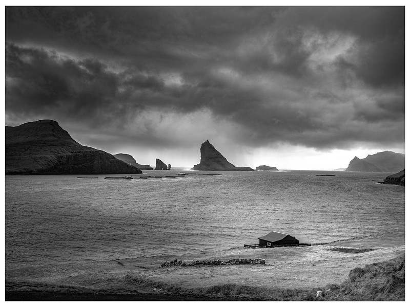 Faroe Coast 30    Black and White Photography by Wayne Heim