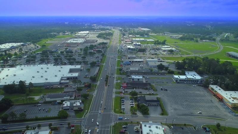 Amazing aerial footage Lake City Florida USA 4k 24p