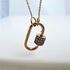 Marla Aaron Stoned Lock for Jewels by Grace Exclusive, Rose Gold 11