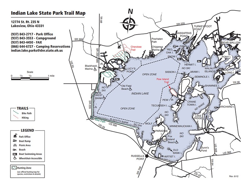Indian lake State Park (Trail Map)