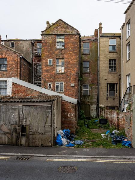 Derelict houses in Burnham-on-Sea