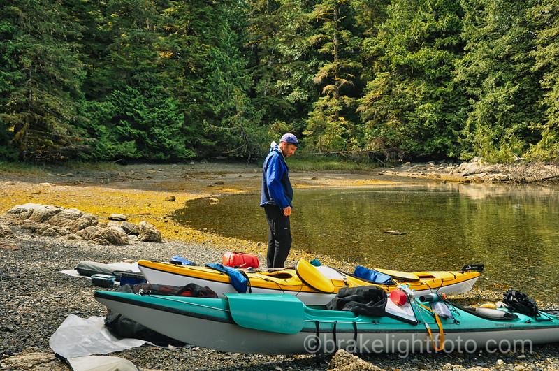 Unloading Kayaks