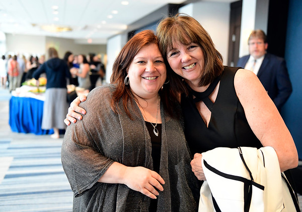 5/7/2019 Mike Orazzi | Staff Bristol Hospital's Dawn Travers,Admin Assistant/Project Support Specialist and Nancy LaMonica, Director of Clinical Excellence, during the 3rd Annual Nursing Dinner held at the DoubleTree by Hilton Hotel Thursday night in Bristol.