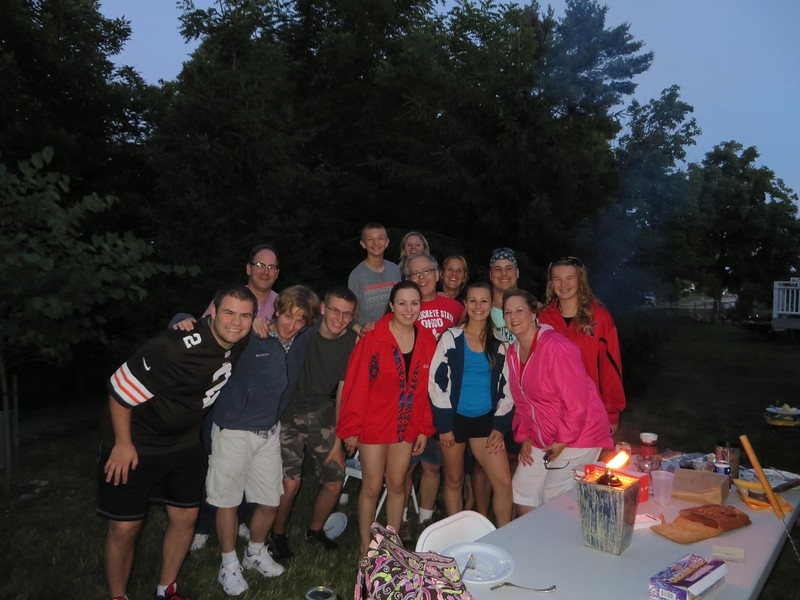 Biaglow family July 4 2014 cookout in Glenwillow, OH