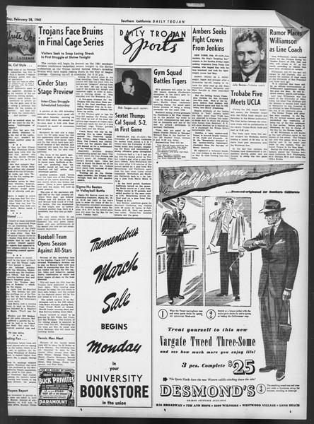 Daily Trojan, Vol. 32, No. 91, February 28, 1941