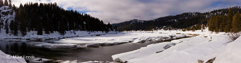 North Fork of the Payette River near Smith's Ferry Idaho. February.