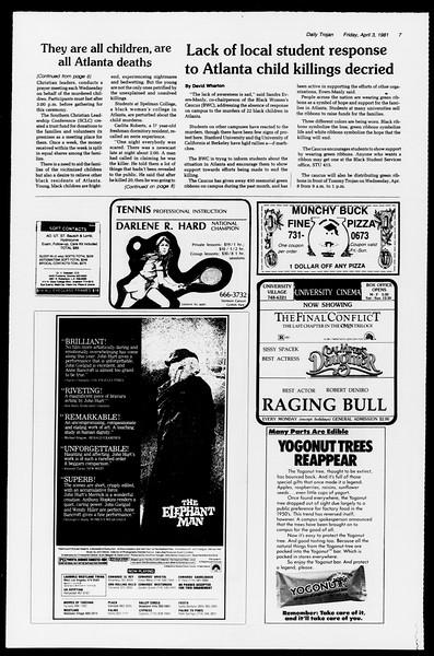 Daily Trojan, Vol. 90, No. 40, April 03, 1981