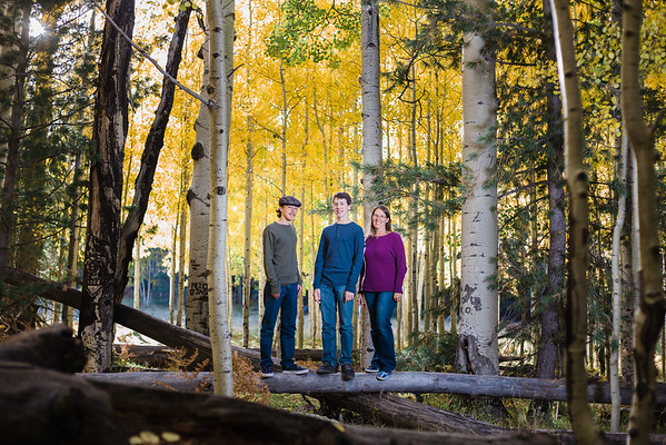 Krista, Jacob and Samuel | Aspen Corner | Family Mini Session