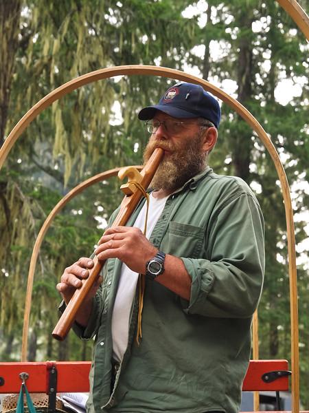 Wayne Beckwith (Wagon Driver) plays his hand made flute