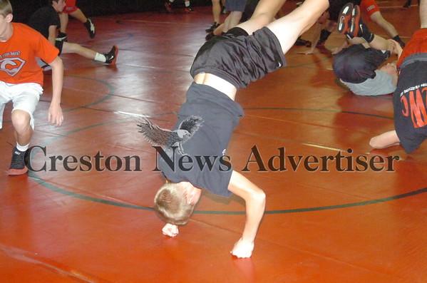 11-14 Creston-O-M wrestling practice