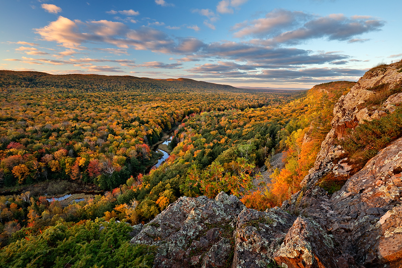 Autumn Escarpment - Big Carp River Valley (Porcupine Mountains State Park - Upper Michigan)