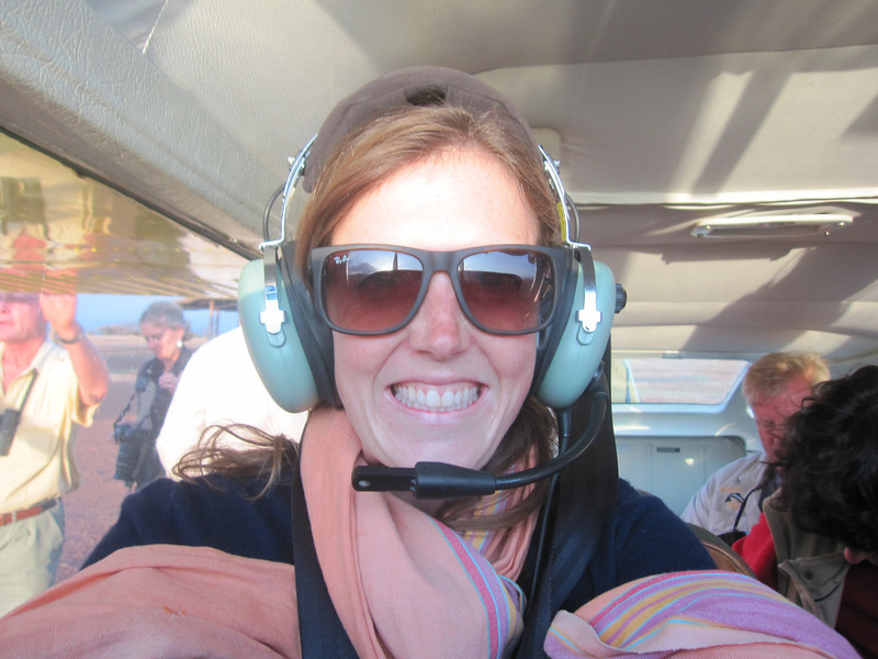 This is Kate - our host at Lewa Wilderness Trails.  We had an empty seat on one of the flights so she came up with us.