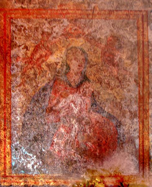 Fresco in Chiesa San Biagio, Castelmola, Sicily