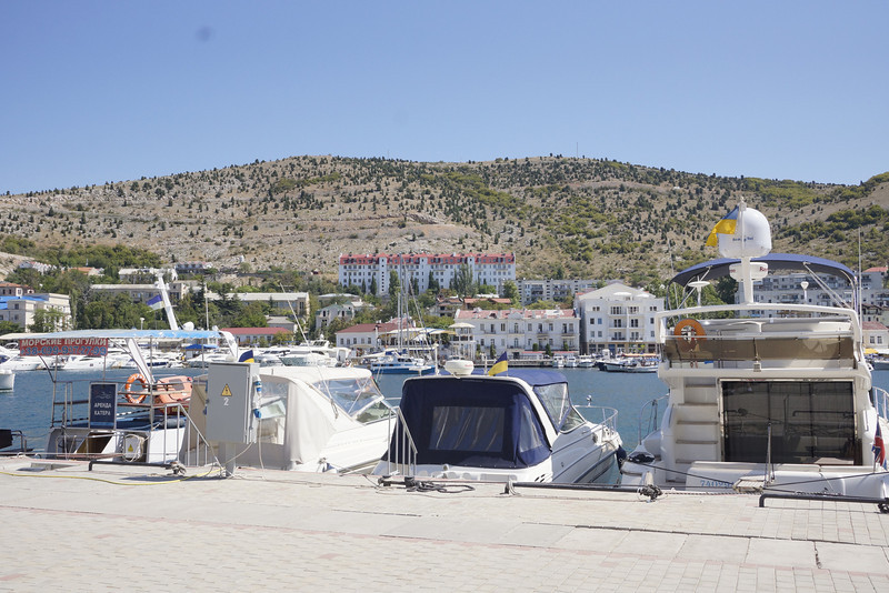 Balaklava harbor near entrance to underground submarine base.  _DSC4390