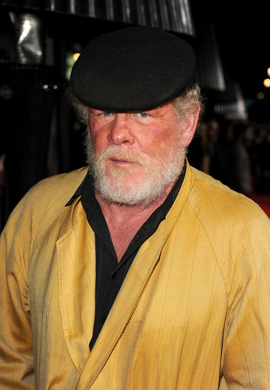 ". Actor Nick Nolte arrives at Warner Bros. Pictures\' ""Gangster Squad\"" premiere at Grauman\'s Chinese Theatre on January 7, 2013 in Hollywood, California.  (Photo by Kevin Winter/Getty Images)"