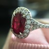 1.52ct Ruby Halo Ring, GIA No Heat 19
