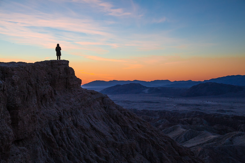 Sunrise at Fonts Point, Anza Borrego State Park