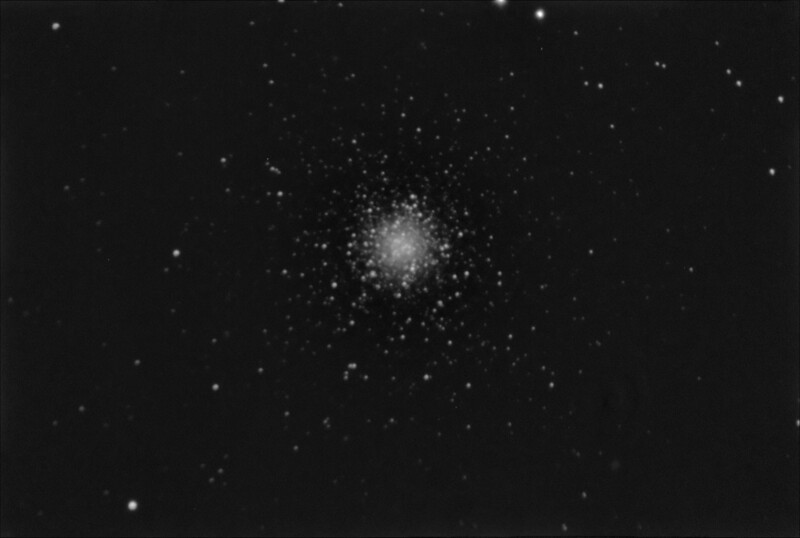 M53 NGC5024 Coma Berenices Globular Cluster - 21/4/2019 (Processed Mono stack)