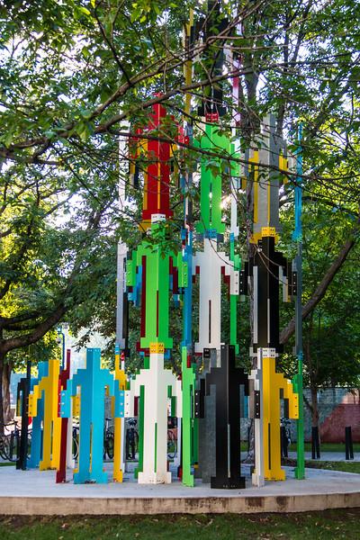 Human Structures (Jonathan Borofsky) McGill University