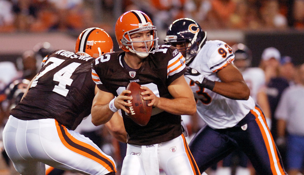 . News-Herald file The plan to sit rookie Colt McCoy for the 2010 season lasted five games because of injuries to Jake Delhomme and Seneca Wallace.