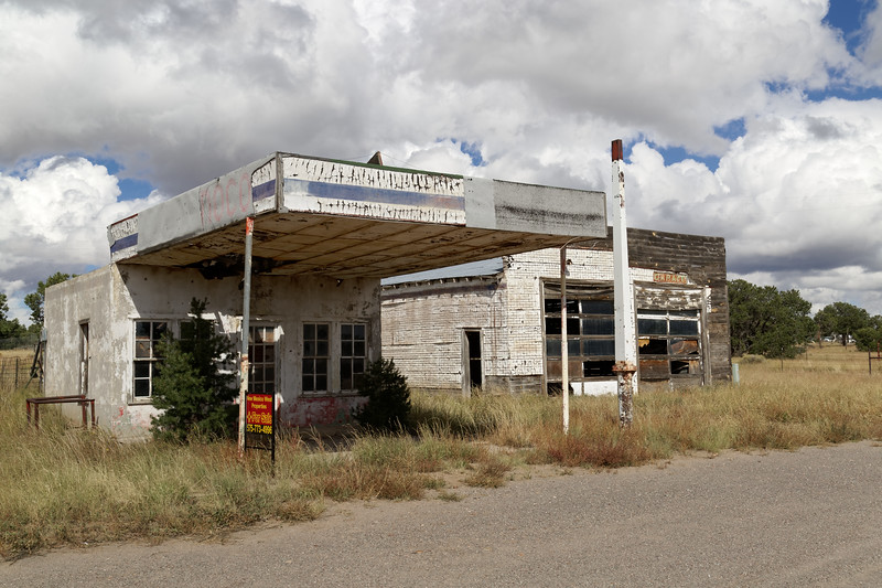 Abandoned Gas Station, Pie City, NM