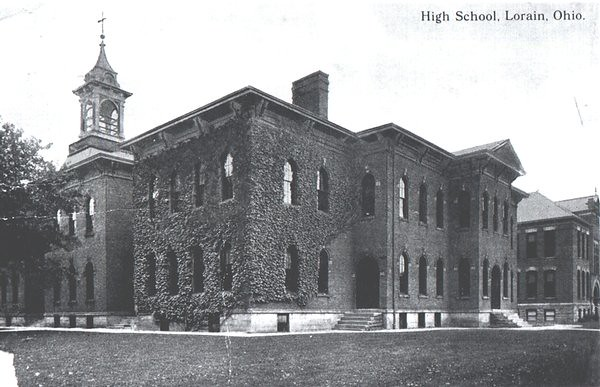 . Historic photo provided by Jim Smith <br> Lorain High School looked like this from 1876-1913 on Washington Avenue in Lorain.