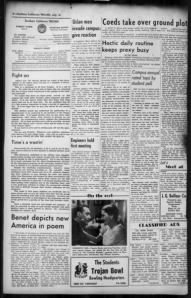 Southern California Trojan, Vol. 35, No. 6, July 16, 1943