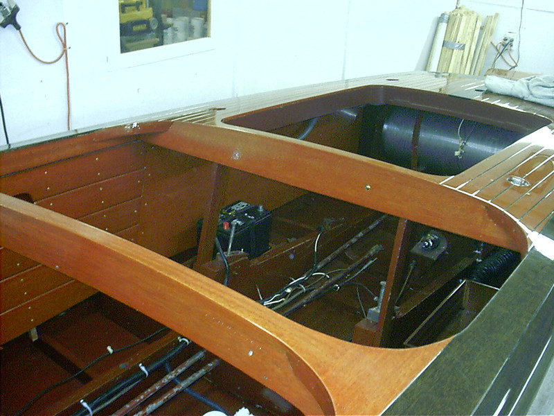 Starboard engine room liner installed.