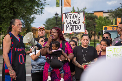 Jusice for Billy Hughes Vigil, Minneapolis, August 6