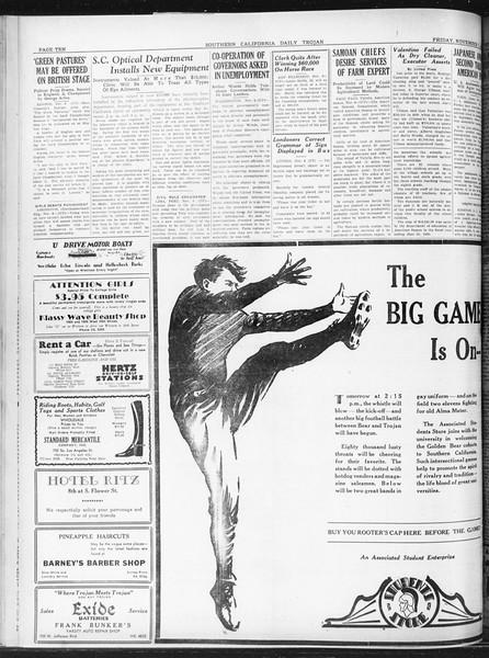 Daily Trojan, Vol. 22, No. 41, November 07, 1930