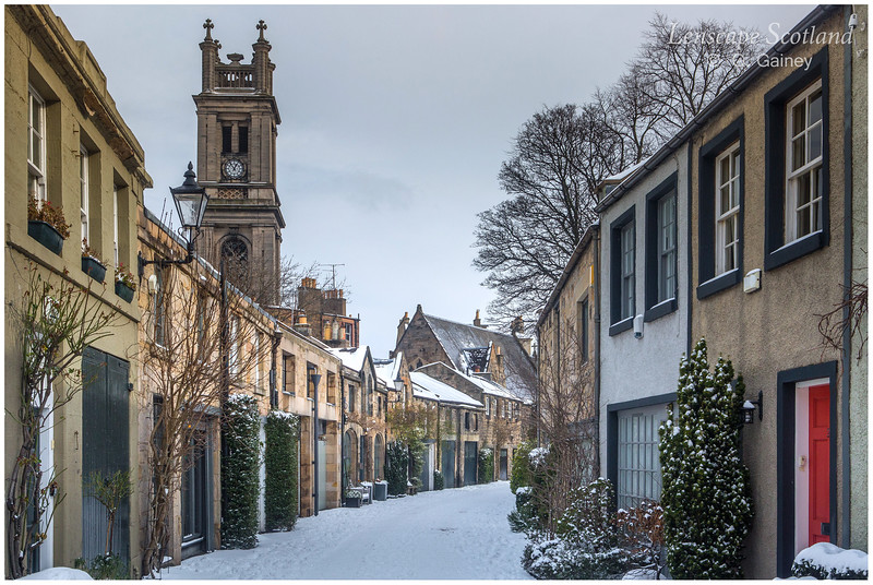 Circus Lane and Saint Stephen's Church, Stockbridge