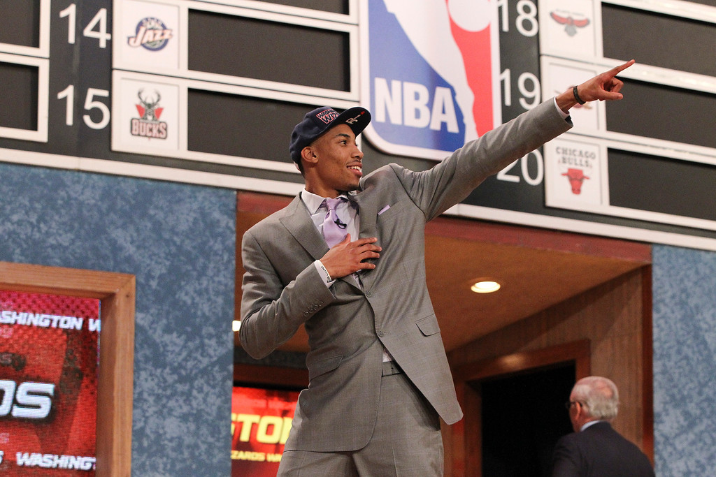 . Otto Porter Jr., who played for Georgetown University, after being selected third in the first round of the 2013 NBA Draft by the Washington Wizards, at the Barclays Center in New York, June 27, 2013. (Michelle V. Agins/The New York Times)